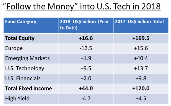 """Follow the money"" into US tech"