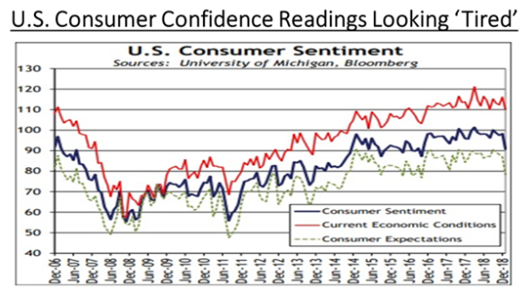 Consumer Confidence Looking Tired | Jan 2019